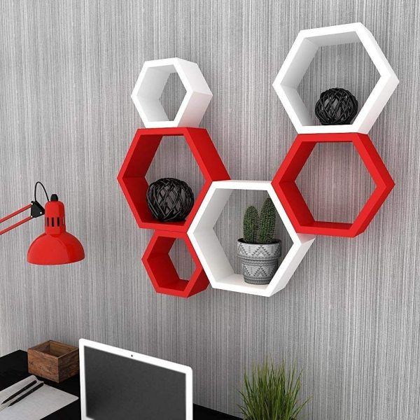 Red-White-Wall-Shelf