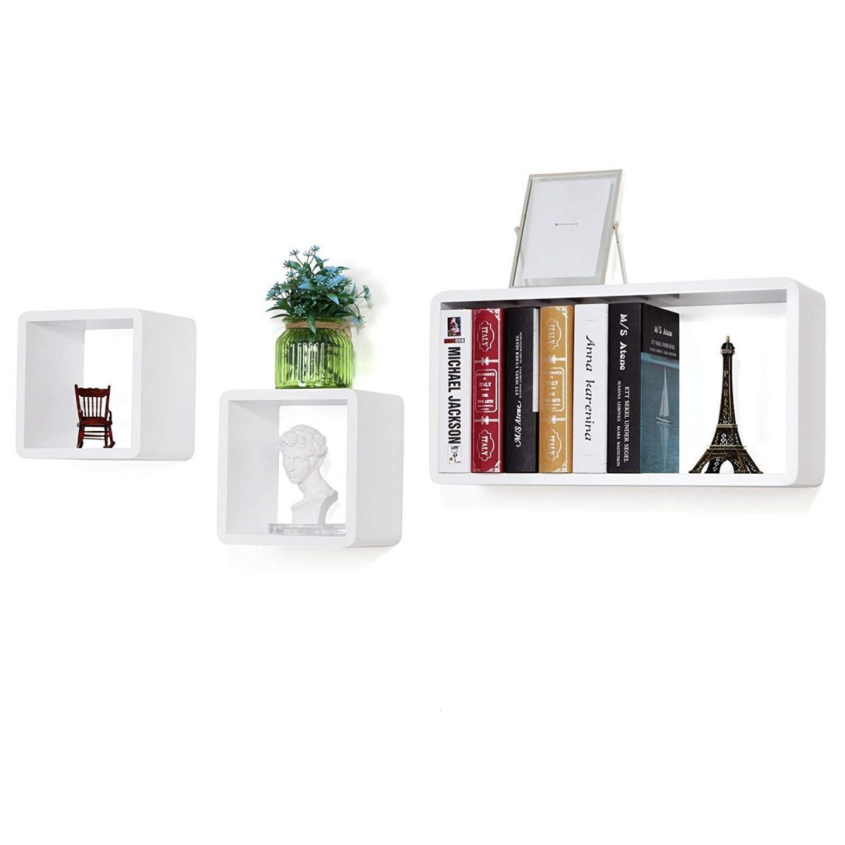 White-wall-shelves