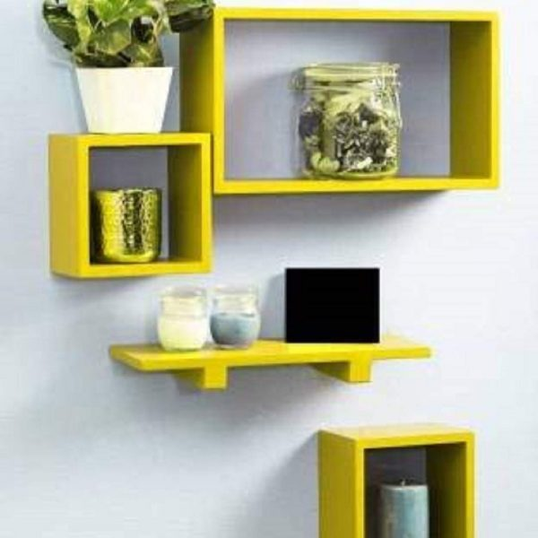 Yellow-Wall-shelf
