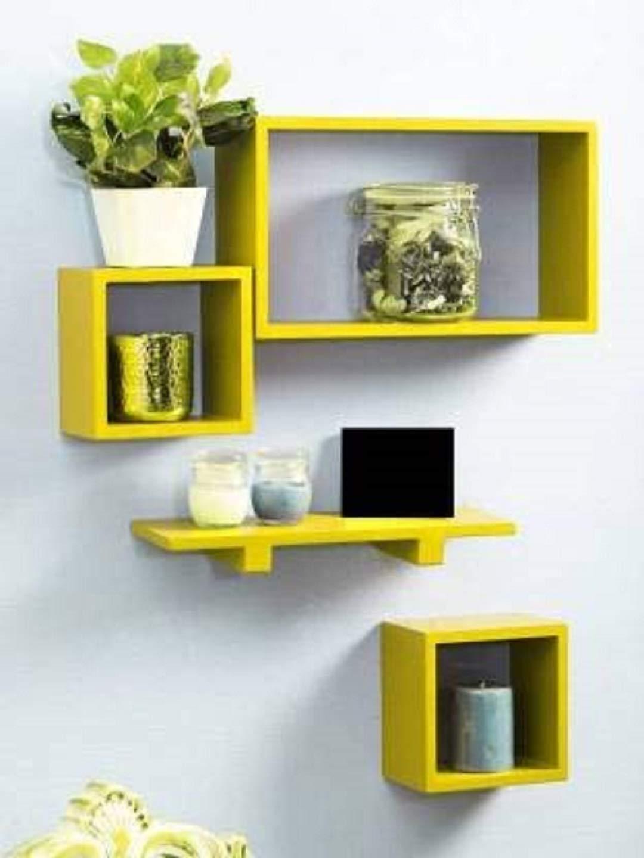 Yellow-Wall-shelf