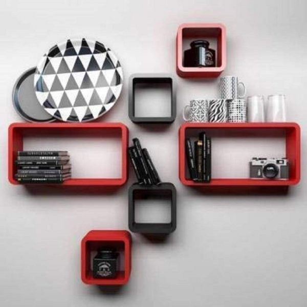 red-black-wall-shelf